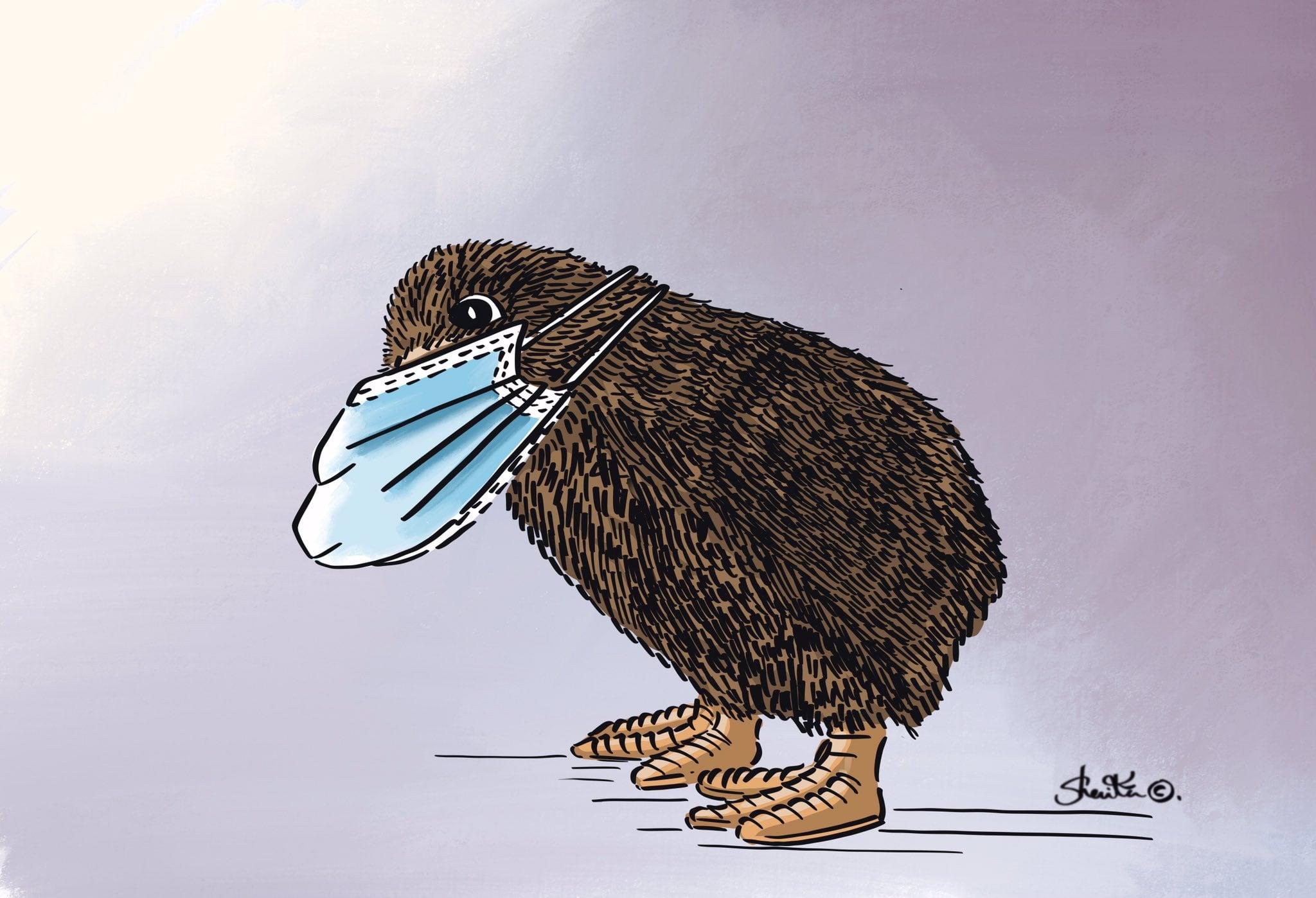 Cartoon expression of #coronavirusnz #Covid_19