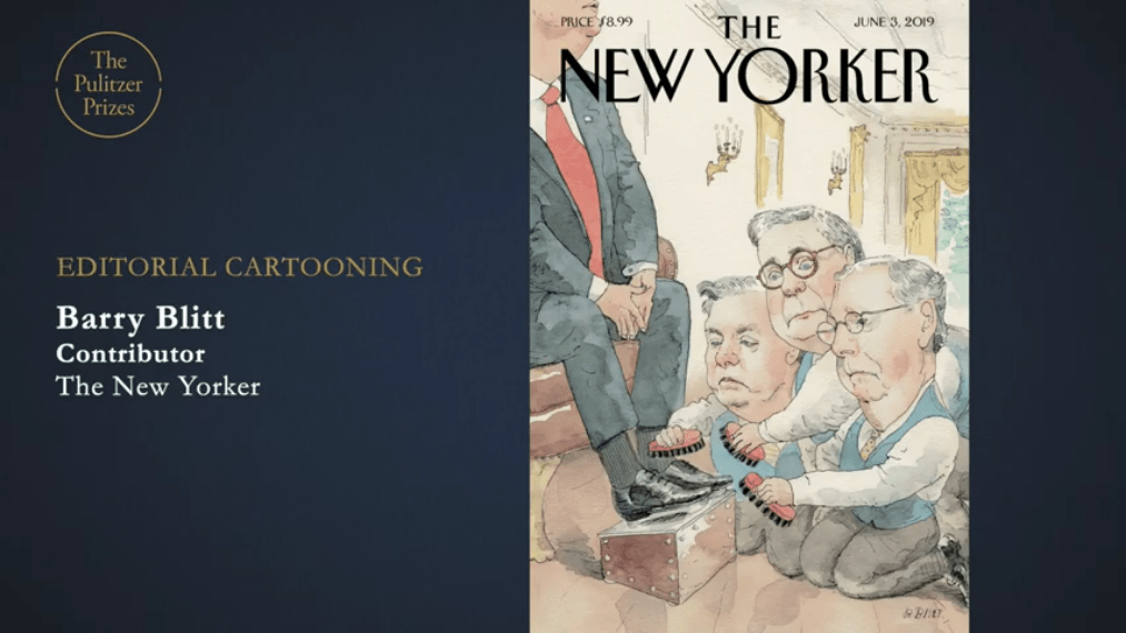 Barry Blitt has won a #Pulitzer Prize in the editorial-cartooning category
